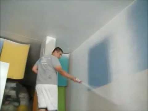 Pintura en interiores y exteriores con maquina rociadora - Pinturas modernas para interiores ...