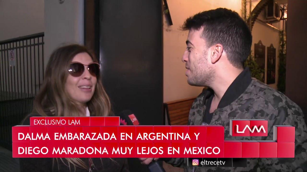 Dalma Maradona embarazada de cuatro meses se confesó en LAM - YouTube