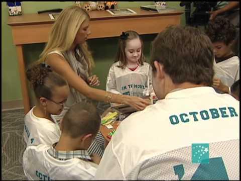 Colt McCoy visits Children