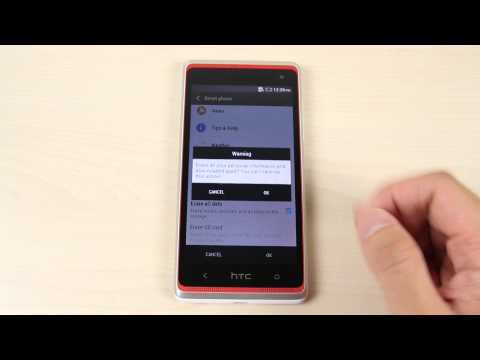 How to master reset HTC Desire 600 dual sim