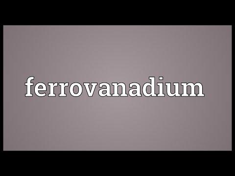 Header of ferrovanadium