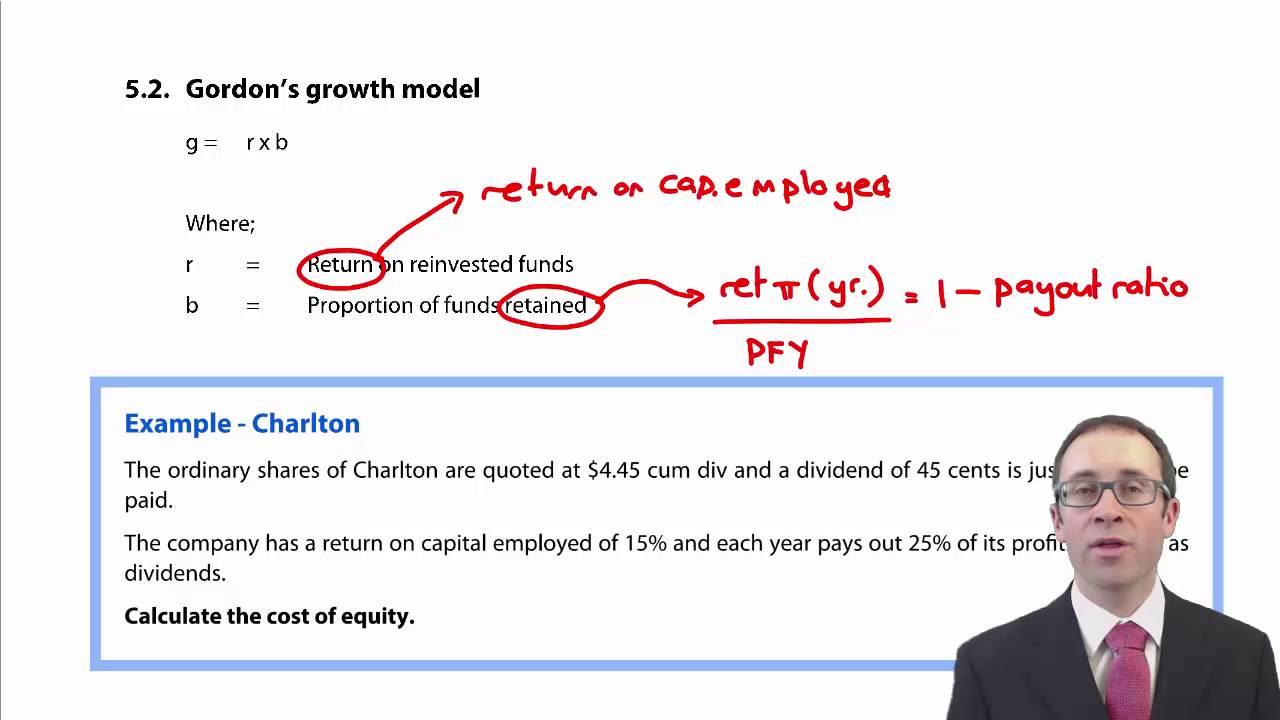 CIMA F2 Gordons Growth Model YouTube