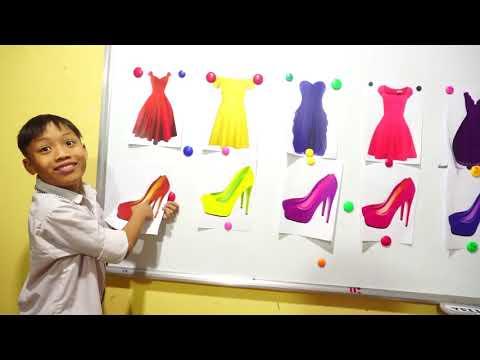 Hunter Kids Go To School Learn Colors Princess skirt | Classroom Funny Nursery Rhymes