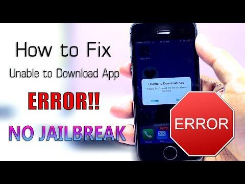 """How to Fix """"Unable to Download App"""" ERROR!! (NO JAILBREAK) iOS 9 - 9.3.1"""