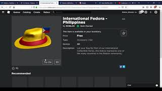 How To Get International Fedora - Philippines | Roblox
