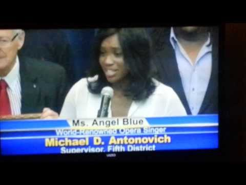 Los Angeles County Board of Supervisors Awards Angel Blue
