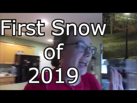 VLOGMAS DAY 1 First Snow 2019  Day 2349