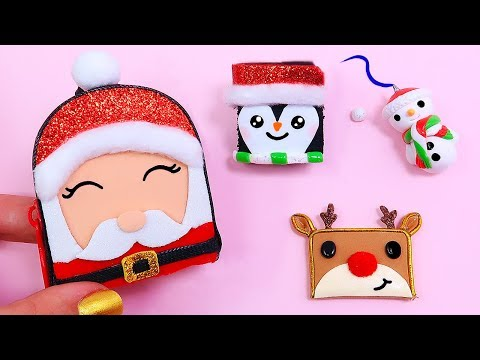 🎅🏼DIY: Miniature CHRISTMAS School Supplies ( Backpack, Notebook, Pen, Pencil case) REALLY WORKS 🎅🏼