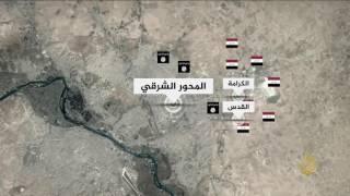 خريطة خطوط التماس في معركة الموصل