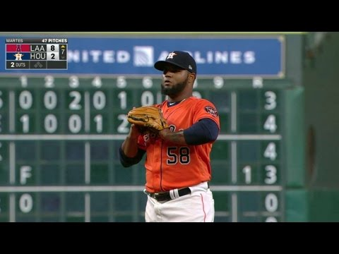 LAA@HOU: Martes fans Young Jr. for first career K