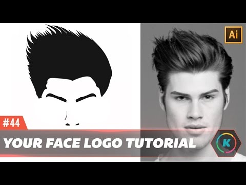 How to Make your Face as a Logo in illustrator Vector cartoon Tutorial