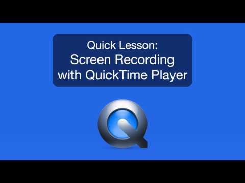 Mac Tutorial: Use Quicktime Player to record your screen!