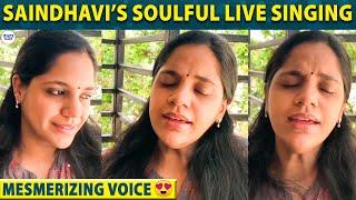 Saindhavi's Magical Live Singing Performance - Mesmerizing Voice | Use Headphones - 04-04-2020 Tamil Cinema News
