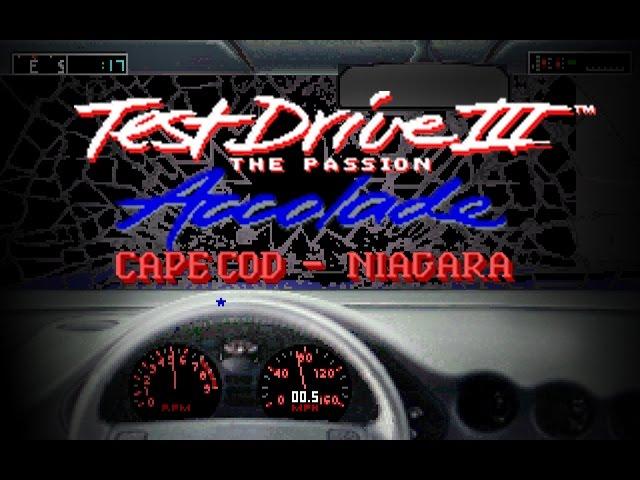 Test Drive III: The Passion 'Cape Cod-Niagara (PC/DOS) 1990, Accolade