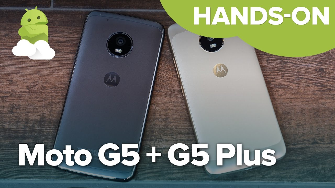 Moto G5 + Moto G5 Plus hands-on: A little less convention, a