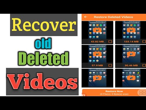 Recover Old Deleted Videos 2020 || Restore Deleted Videos