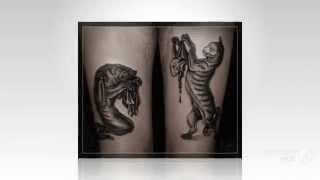 Кот татуировка