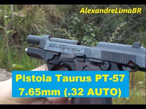 Pistola PT-57 SC 7,65mm (.32 AUTO)