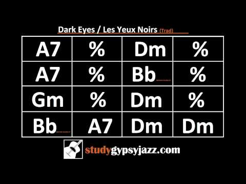 Gypsy Jazz Backing Track / Play Along -  Dark Eyes (Les Yeux Noirs) - Fast