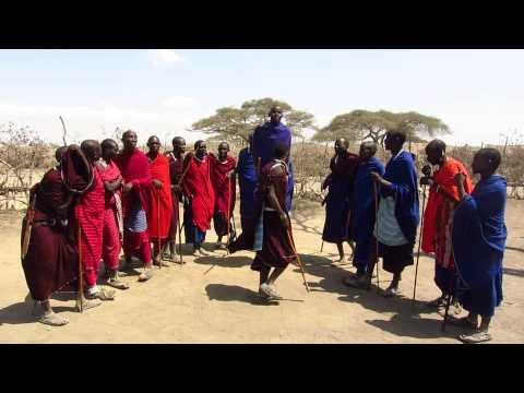 """Adumu"" Jumping Dance at a Maasai Village in Ngorongoro Conservation Area, Tanzania"