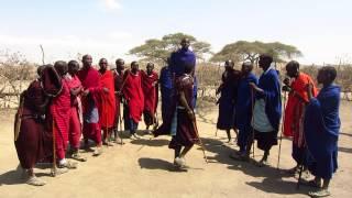 """Adumu"" Jumping Dance at a Maasai Village in Ngorongoro Conservation Area, Tanzania"