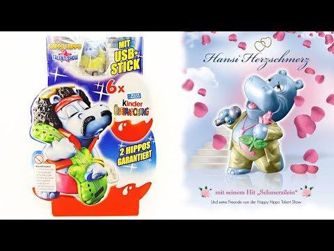 Раритетные КИНДЕР СЮРПРИЗЫ #36 Бегемотики Шоу талантов Happy Hippo Kinder Surprise eggs unboxing