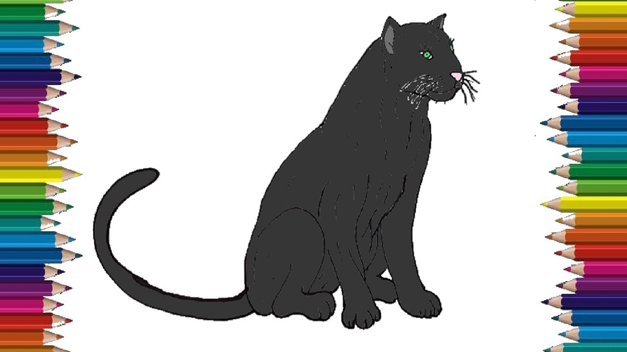 How To Draw A Black Panther Easy Black Panther Drawing Step By Step Youtube