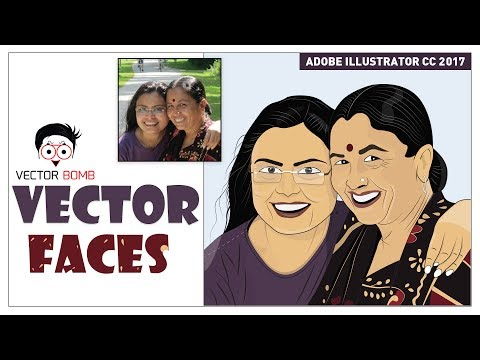 How to Create Woman Cartoon Faces of your Real Photo | Adobe Illustrator CC 2017