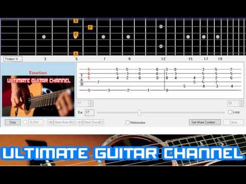 Guitar Solo Tab Emotion Bee Gees Youtube
