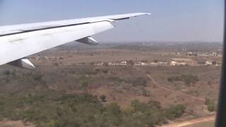 Landing at Lusaka airport