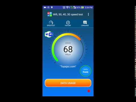 Wifi, 5G, 4G, 3G speed test