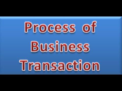 Process of Business Transaction, Transaction Process