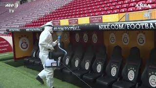 Coronavirus, disinfettato lo stadio di Istanbul