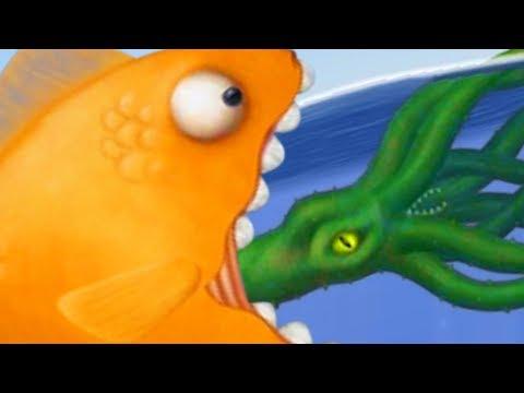 GIANT GOLDFISH EATS A KRAKEN! - Tasty Blue Part 2 | Pungence