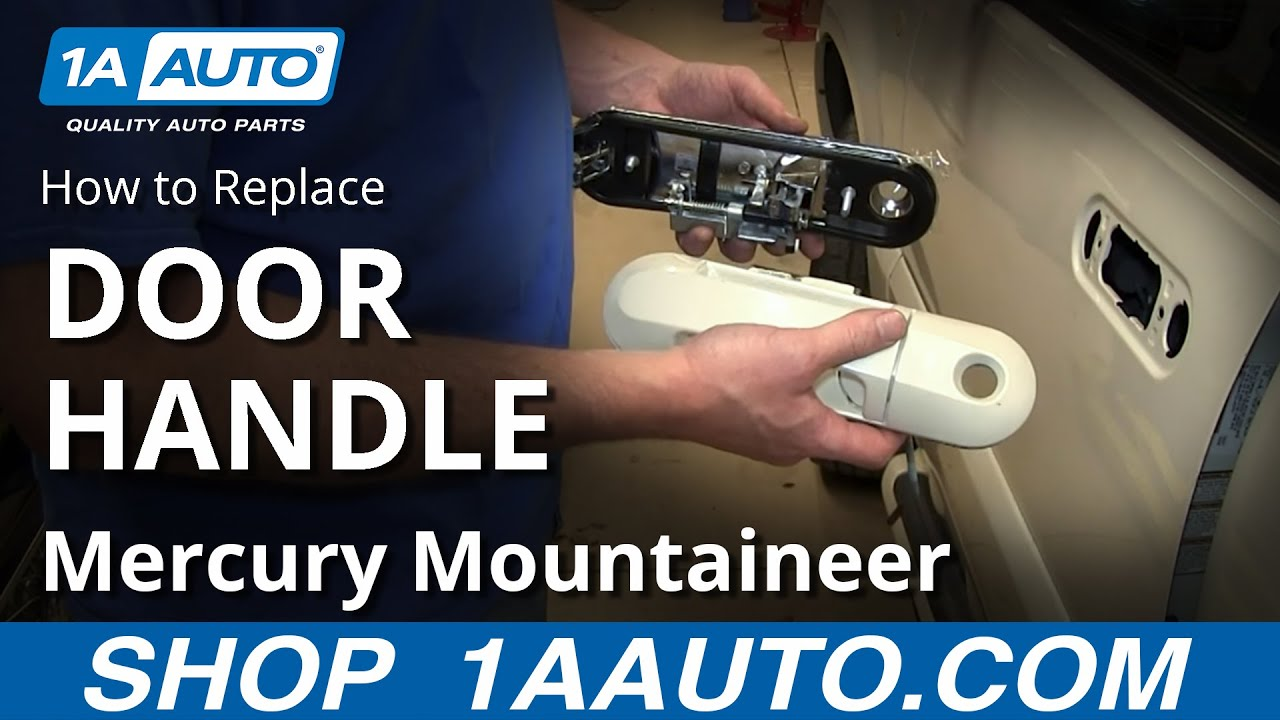 How To Install Front Outside Door Handle 2002 05 Ford Explorer Mercury  Mountaineer   YouTube