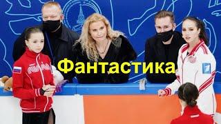 ФАНТАСТИКА Камила Валиева ТРОЙНОЙ Аксель в Произвольной программе на кубке 1 канала