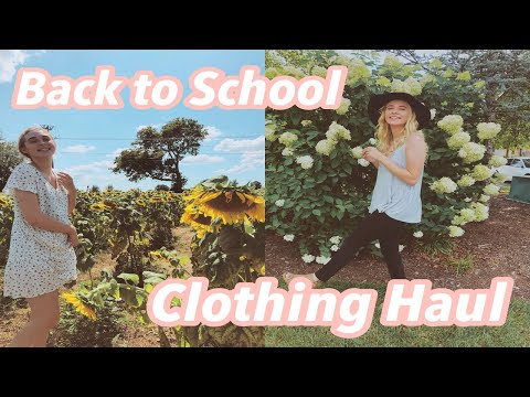 BACK TO SCHOOL CLOTHING HAUL (brandy Melville, Pacsun, American Eagle...)