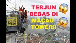[SOLO TRAVEL] BUNGY JUMP 233M AT MACAU TOWER Live Version!