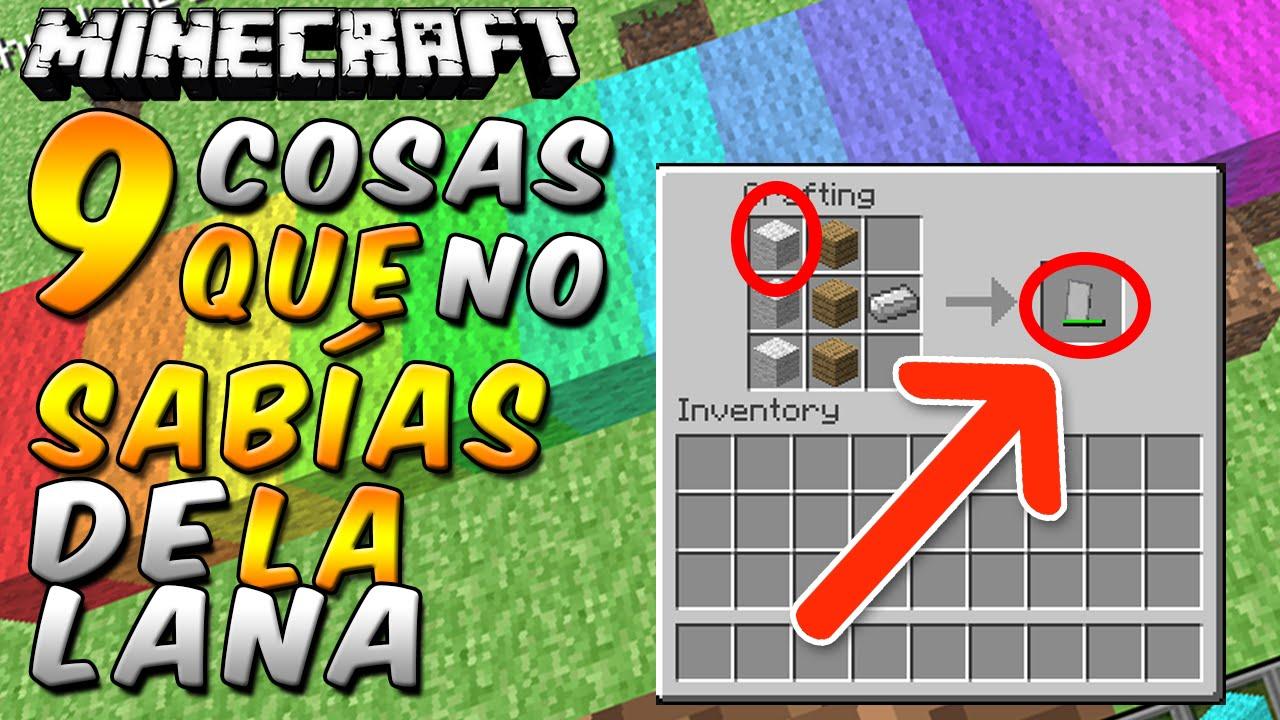 Minecraft 9 Cosas Que No Sabias De La Lana Rabahrex Youtube - Hacer-cosas-de-lana