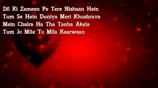 teri saanson mein lyrics