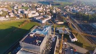 Palettenhochregal der Firma Hochdorf Swiss Nutrition in Sulgen