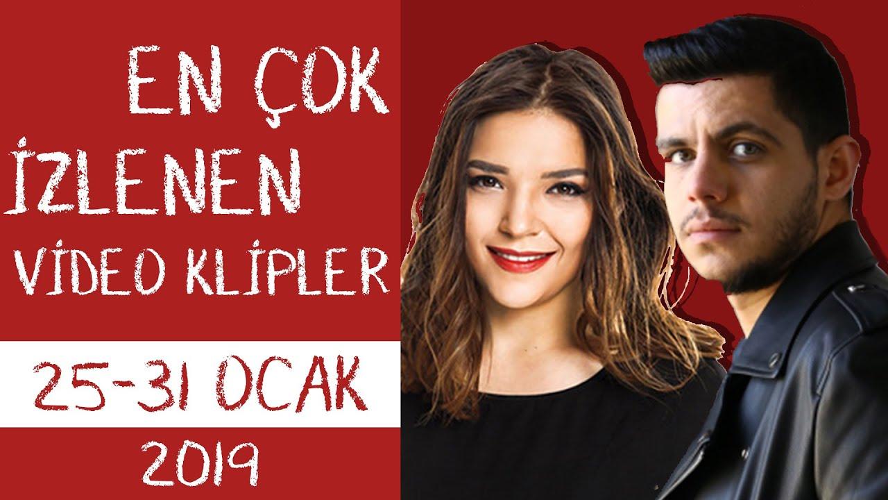 En Çok İzlenen Video Klipler Türkiye Top 20 (25 - 31 Ocak 2019)