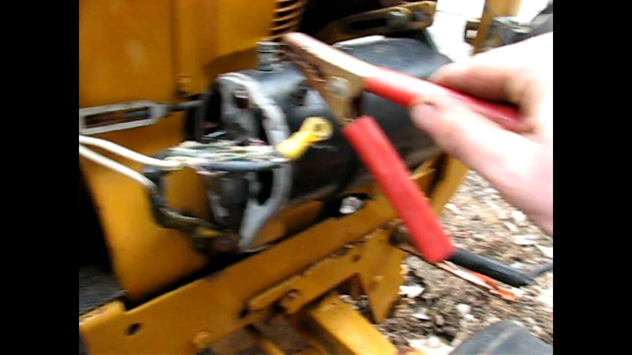 wiring diagram for a starter solenoid rv batteries cub cadet generator test - youtube
