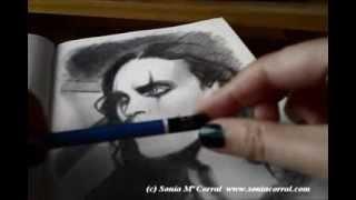 """""""El Cuervo"""" Video-tutorial 2- Boceto rápido por  Sonia Mª Corral - """"The Crow"""" Speed drawing"""