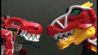 Power Rangers DIno Charge  T-Rex Megazord Toys Fight Transfomation