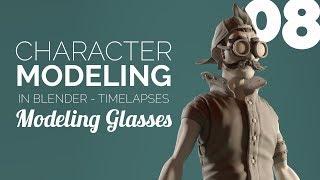 Character Modeling in Blender - 08 Modeling Glasses