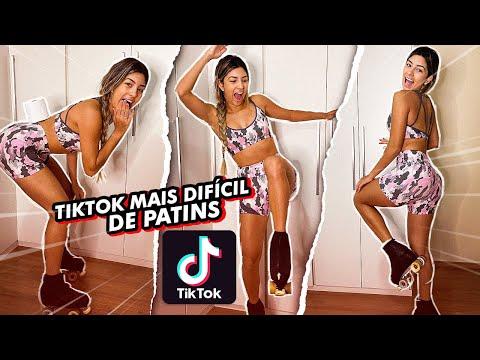 TESTEI OS VIRAIS DO TIKTOK MAIS DIFÍCEIS !! *com patins*