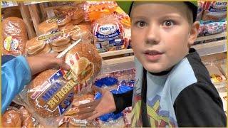 VLOG: Семейная прогулка в магазин продуктов  Quality Bakers Mega Hamburger Buns Макдоналдс