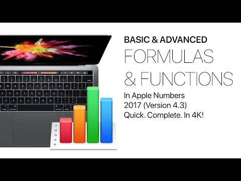 Formulas & Functions in Apple Numbers 2017 - Basic & Advanced Complete Class + extras, in 4K!