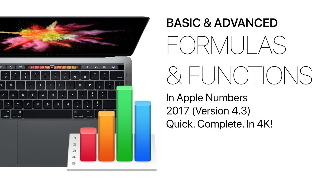 formulas & functions in apple numbers 2017 - basic & advanced